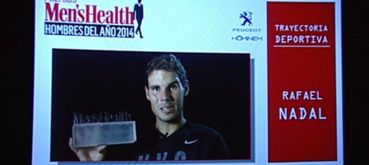 Rafa Nadal recibió el Premio Men
