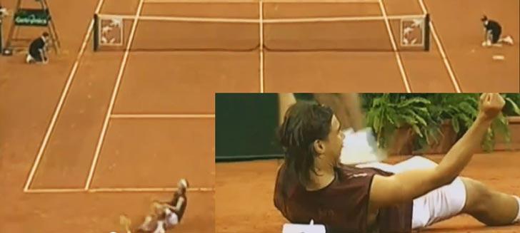 Imagen de archivo de los comienzos de la carrera de Rafa Nadal