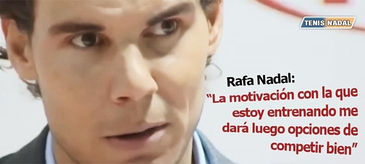 Rafa Nadal entrevistado tras un evento KIA al que acudió - Diciembre 2014