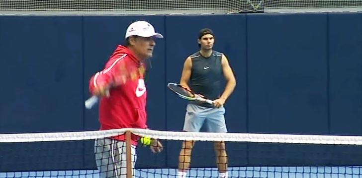 Rafa Nadal y Toni Nadal retomaron los entrenamientos a primeros de Diciembre como pre-temporada 2015