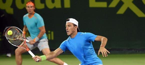 Rafa Nadal y Juan Mónaco ganan en los cuartos de final en Doha 2015