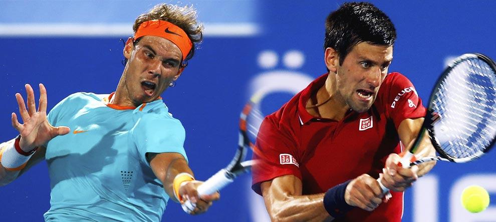 """Primer """"cara a cara"""" Nadal-Djokovic de 2015 en el dobles de Doha"""