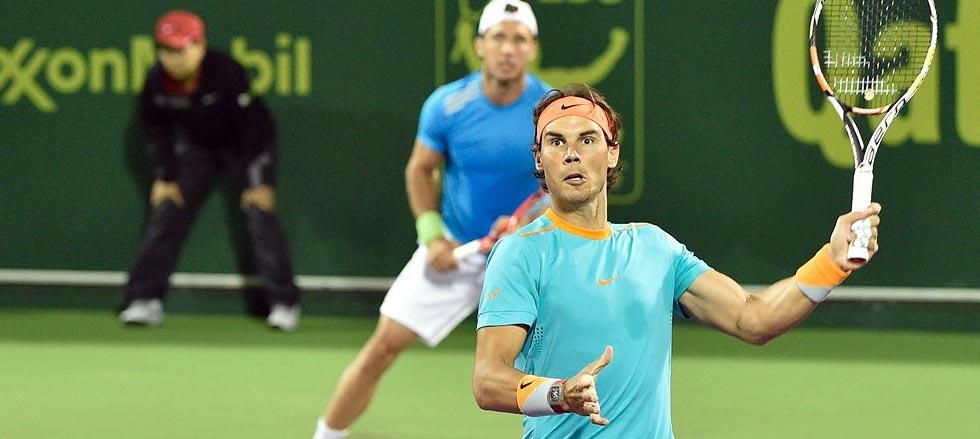 Rafa Nadal jugará la final del dobles en Doha 2015
