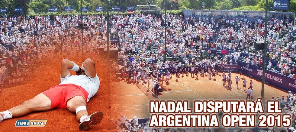Rafa Nadal será primer cabeza de serie en el Argentina Open 2015