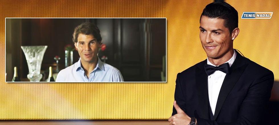 """Rafael Nadal a Cristiano Ronaldo Balón de Oro 2015: """"Eres un ejemplo para las nuevas generaciones"""""""