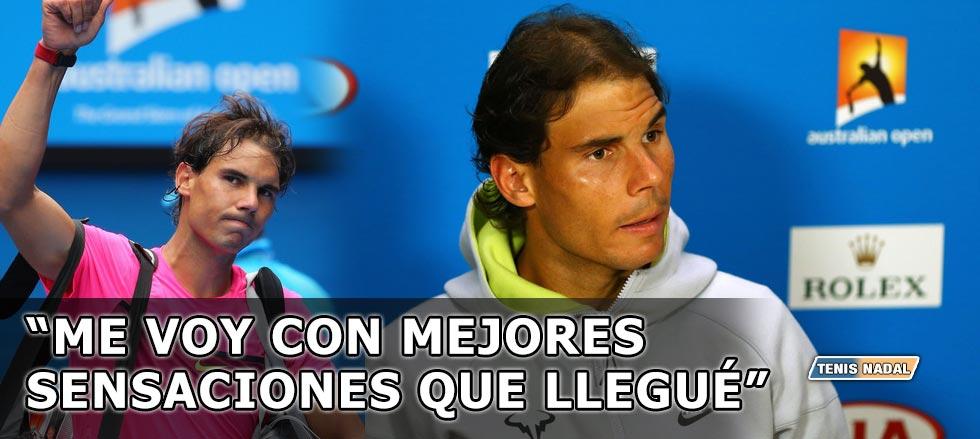 """Rafael Nadal: """"Trabajaré para que estos bajones desaparezcan"""""""