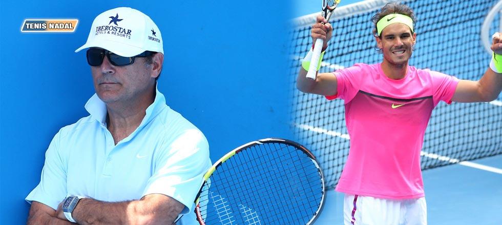 """Toni Nadal: """"Rafael ha mejorado mucho su juego"""""""