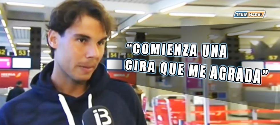 """Rafael Nadal: """"Estoy con ilusión por volver a competir en tierra"""""""