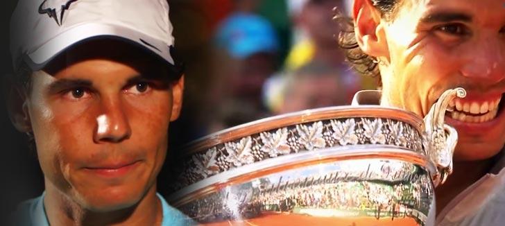 Rafael Nadal en un instante de la entrevista con Mats Wilander