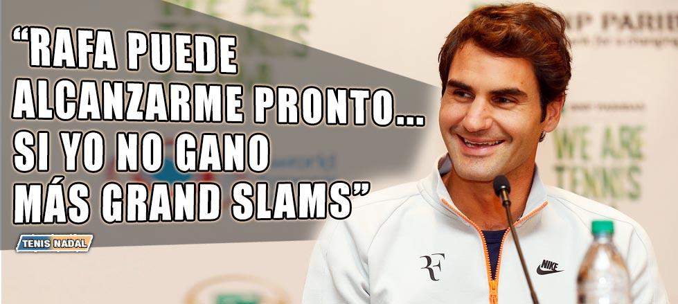 """Roger Federer: """"Rafa puede alcanzarme pronto... si no gano más Grand Slams"""""""