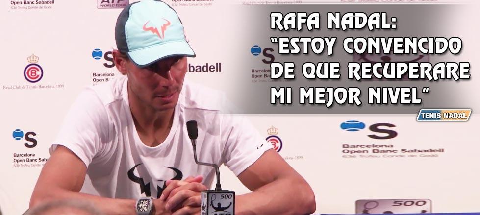 """Rafael Nadal: """"No sé qué pasará en el futuro pero doy un mensaje de esperanza"""""""