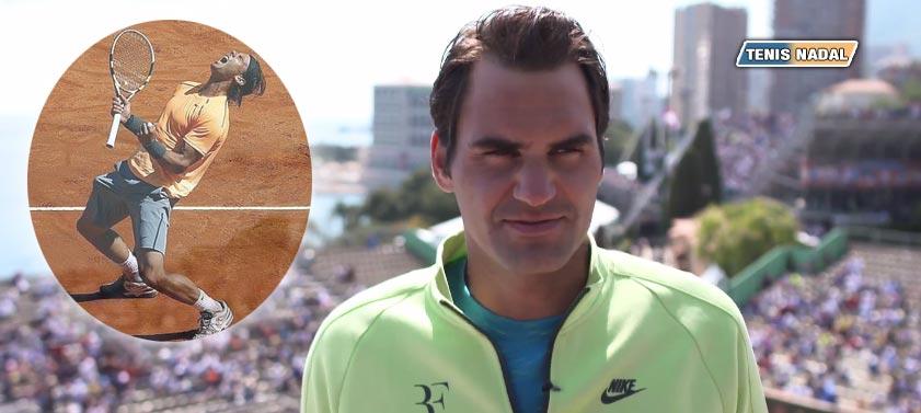 """Roger Federer: """"Nunca gané Montecarlo porque el número uno es Rafa"""""""