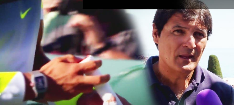 Toni Nadal confía en que la nueva raqueta acelere la mejoría