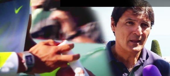 Toni Nadal explica como la nueva raqueta ayudara al juego de Rafa