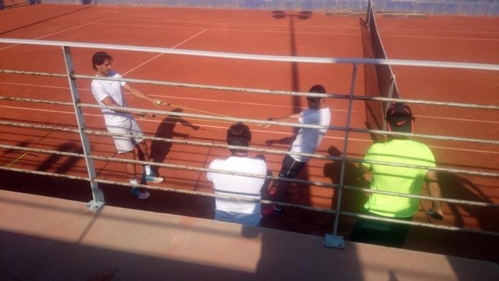 Rafa Nadal y Carlos Moyá entrenando juntos en Manacor - Julio 2015 - Pict.1