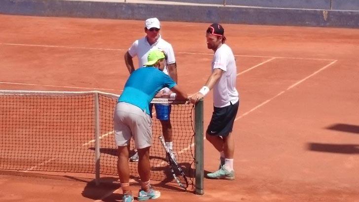 Rafa Nadal y Carlos Moyá entrenando juntos en Manacor - Julio 2015 - Pict.3
