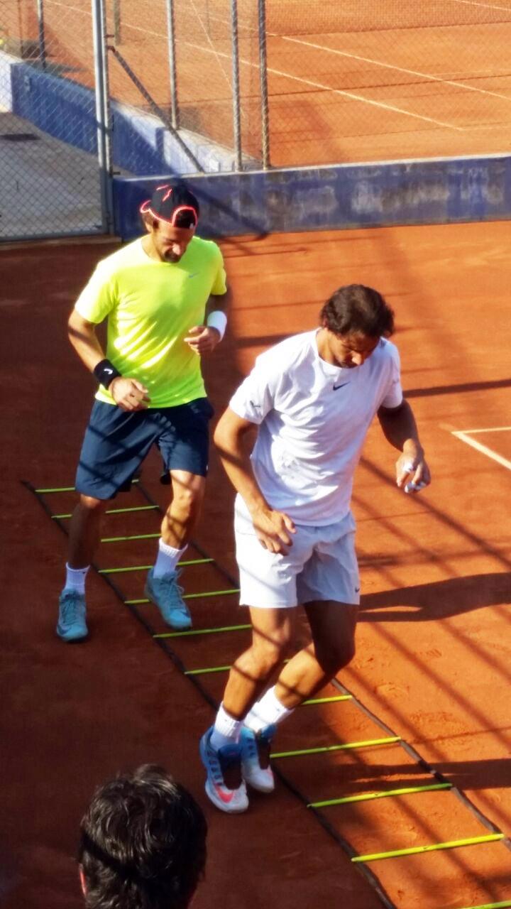 Rafa Nadal y Carlos Moyá entrenando juntos en Manacor - Julio 2015 - Pict.5