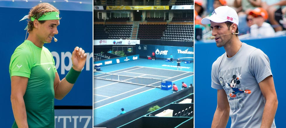 Confirmada exhibición Nadal-Djokovic en Tailandia