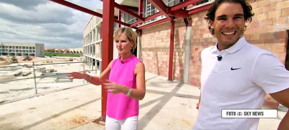 Sky Sports entrevistó a Rafa Nadal en las obras donde se construye su próxima academia