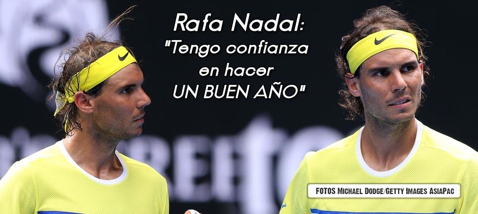 """Rafael Nadal: """"No podemos dramatizar. Tengo confianza en poder hacer un buen año."""""""